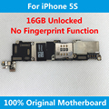 For iPhone 5S Original Motherboard 100% Unlocked Mainboard 16GB With Full Chips Good Working Without Fingerprint Logic Board