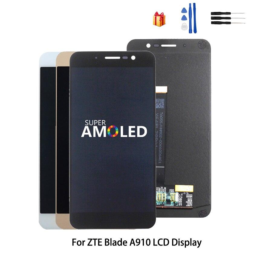 Original pour ZTE Blade A910 BA910 LCD écran tactile pièces de téléphone pour ZTE Blade A910 LCD écran d'affichage Amoled outils gratuits