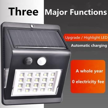 20 Kinds LED Solar Power PIR Motion Sensor Wall Light Outdoor Waterproof Energy Saving Street Garden Security Path Lamp Luminous