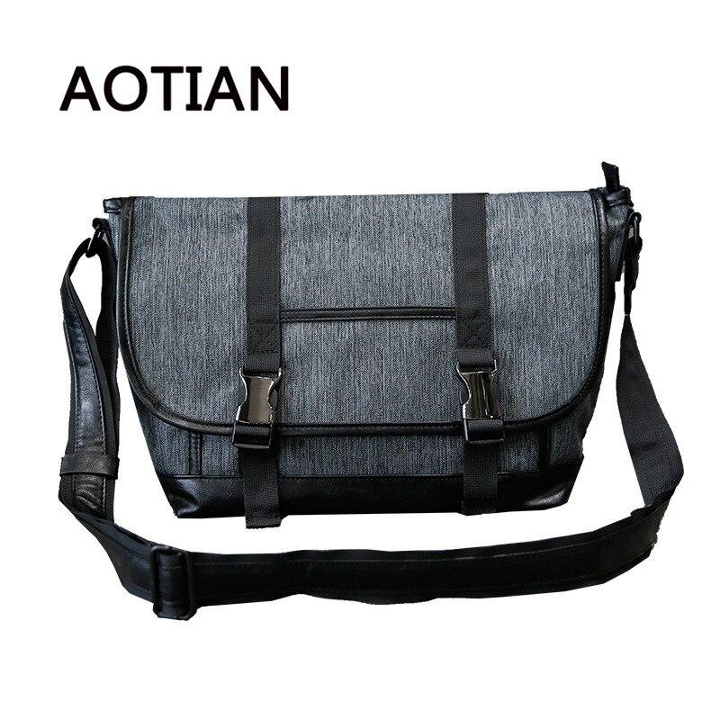 b74d8e36bce9 AOTIAN высокое качество Для мужчин Курьерские сумки Винтаж сумка Для мужчин  мужской сумки холщовый Повседневное Crossbody сумки для Для мужчин -  b.folklove. ...