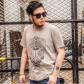 high quality t shirt 2XL-7XL Owl printing t-shirt men cotton men's T-shirt PLUS SIZE new summer