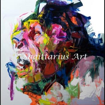obras de arte geniales para sala de estar Pintado A Mano De Franoise Nielly De Untitled 543 Cara