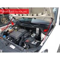 Refit Engine Hood Gas Spring Shock Lift Strut Bars Support Rod Bracket 2pcs/set For 2011 2017 Volkswagen VW Polo MK5 Car styling