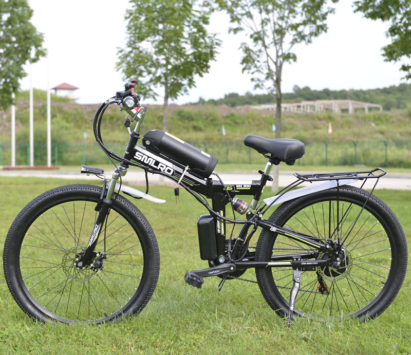 26 polegada 48 v 10.8ah Bateria De Lítio Bicicleta Elétrica Bicicleta de Montanha Elétrica 350 w Do Motor EBike Dobrável Bicicleta Elétrica poderosa