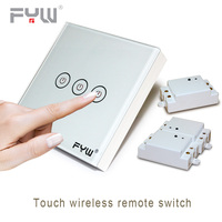 Smart Home House System Luxury Crystal Glass Wall Switch Touch Switch Normal Domestic Switch Wireless Remote