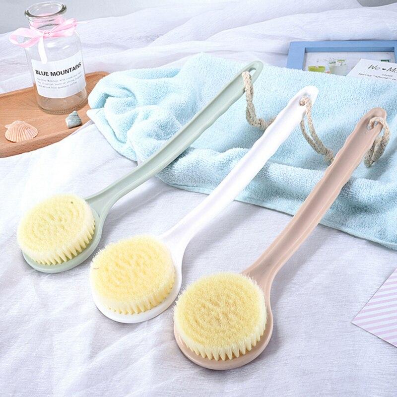 Three-color Bath Massage Brush Nylon Soft Wool Long Handle Back Rub Back Massage