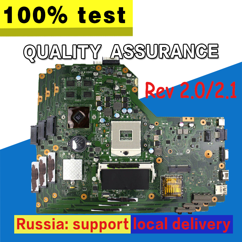 K54LY Motherboard Rev 2.1 HD6470 1G For ASUS X54HR X54HY X54LY A54H A54HR Laptop Motherboard K54LY Mainboard K54LY Motherboard
