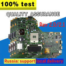 K54LY Motherboard Rev 2,1 HD6470 1G Für ASUS X54HR X54HY X54LY A54H A54HR Laptop motherboard K54LY Mainboard K54LY Motherboard(China)
