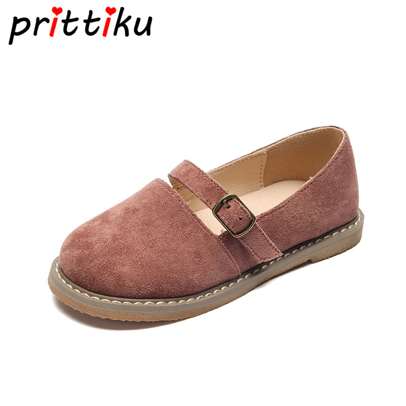 Spring 2018 Toddler Girl Casual Flats Little Kids Faux Suede Mary Jane Loafers Big Children Buckle PU Leather School Dress Shoes crossback faux suede cami dress