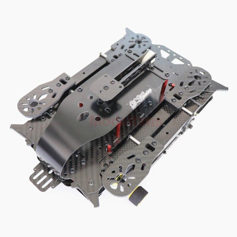 Kit de cadre à quatre axes pliable en fibre de carbone DH600 kit de cadre de aéronef sans pilote (UAV) pliable portable et léger pour drone rc