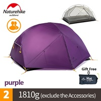Brand Naturehike DHL Free Shipping Mongar 2 Camping Tent Double Layers 2 Person Waterproof Ultralight Dome