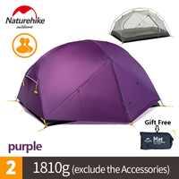 Naturel randonnée usine vendre Mongar 2 Camping tente Double couches 2 personne étanche ultraléger dôme tente DHL livraison gratuite