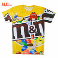 Alisister Woman/Men Funny T Shirts Printed Chocolate/Unicorn/Weed Leaf/Cat T Shirt 3d Cartoon Short Sleeve O-Neck Casual Tops