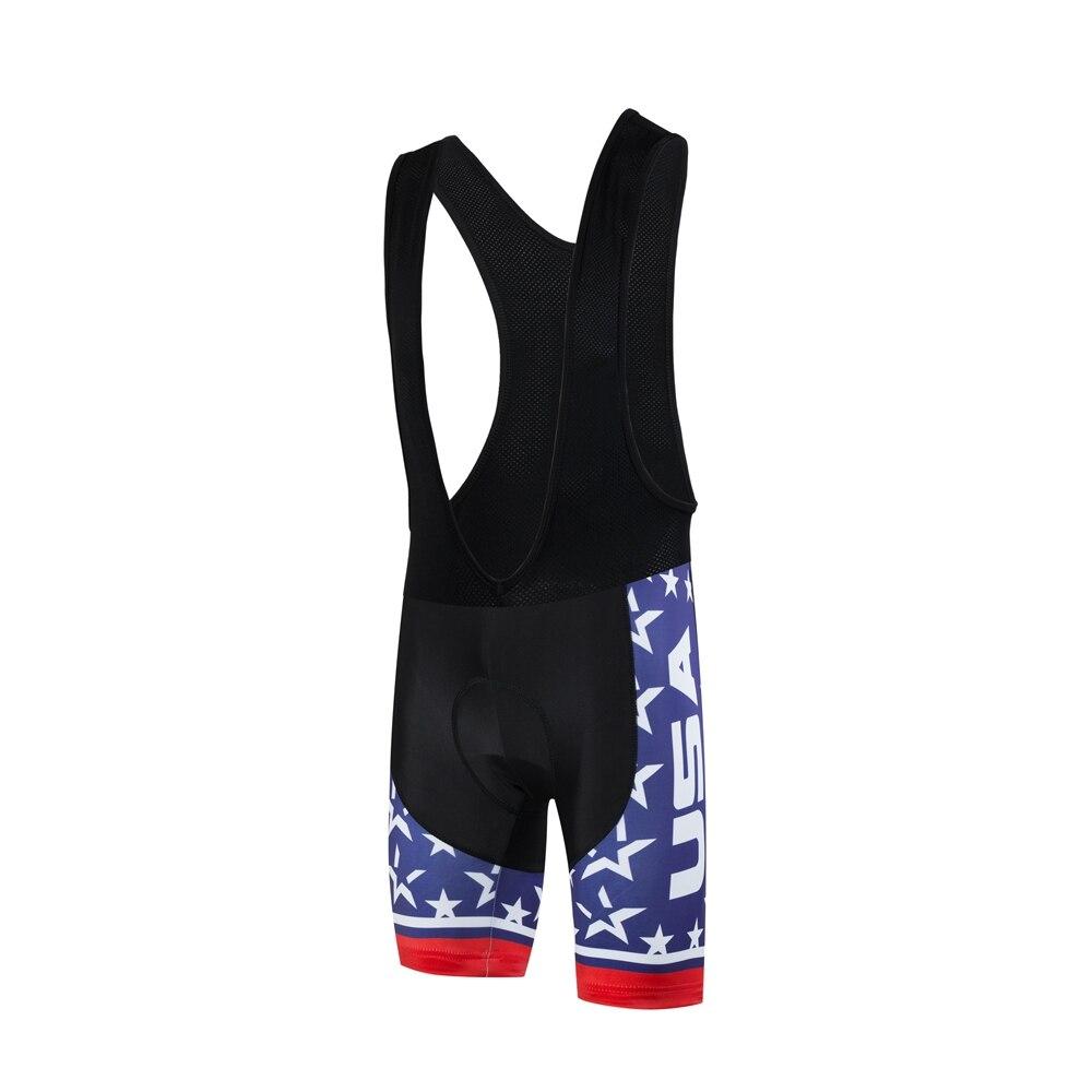 the best attitude d8cb2 49c8a US $15.29 10% OFF|USA Radlerhose 3D Gepolsterte Atmungsaktive Quick Dry  Zyklus MTB trägerhose Blau Mountain Road Fahrrad Shorts Bermuda Ciclismo-in  ...
