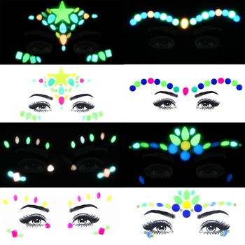 2019 NEW Face Crystal Stickers Luminous  Gems Make Up Adhesive Temporary Tattoo  Body Art Gems Stickers