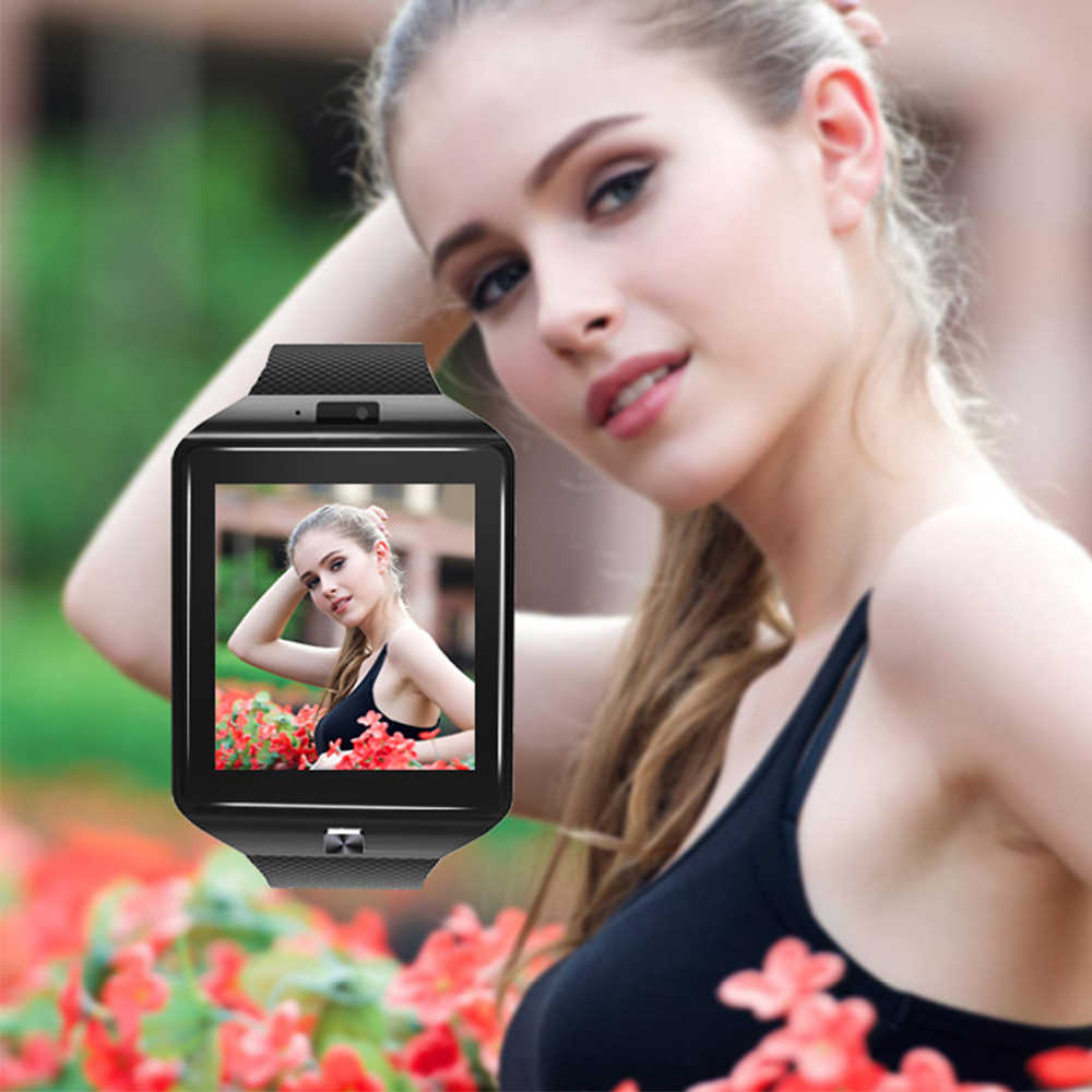 Smart Watch Clock With SIM Card Slot Push Message Bluetooth Connectivity Mobile Phone