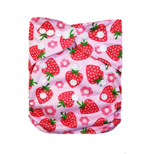 [LilBit] 2018 New Style Baby Cloth Diaper Cover One Size Adjustable Washable Nappy Cartoon Reusable Nappies Diapers