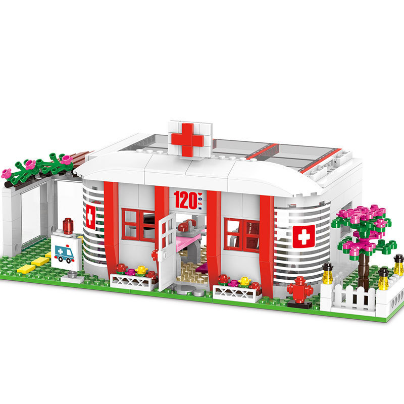 590pcs Diy City Girl Friend Series The Campus Medical Office Building Blocks Compatible With Legoingly Bricks Toys For Children lepin diy girl friends series the undersea palace set castle building blocks bricks toys for children compatible with legoingly