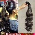 100% реальные Человеческие Волосы вьющиеся ponytail расширения шиньоны Бразильский девственные природные волосы обернуть вокруг хвост rosa продукты волосы