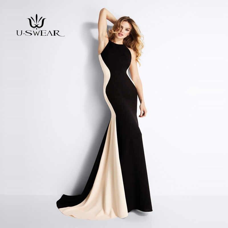 Женское элегантное черное лоскутное платье длинное 2018 сексуальное платье без рукавов Церемония вечернее платье подружки невесты вечернее платье vestidos De Fiesta