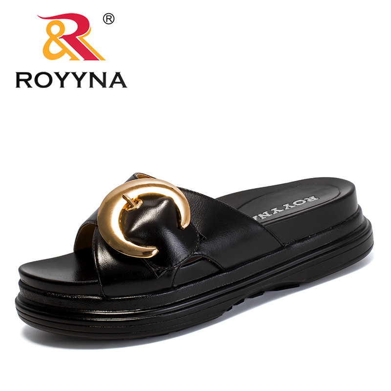 ROYYNA-sandales d'été en microfibre pour femmes, sandales confortables et légères, nouvelle mode, chaussures d'été à plateforme, livraison rapide