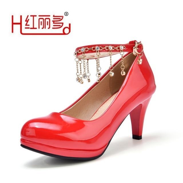 Chaussures De Mariage Rouge Pour Les Femmes 3Ou4eAY