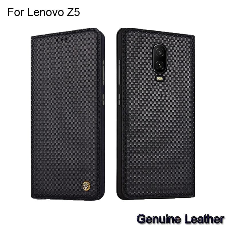 Case For Lenovo Z5 z5 Luxury Genuine Leather Woven Pattern Cases For Lenovo Z5 L78011 Full Back Cover protective