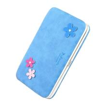 Grande capacité de femmes wallet argent casual téléphone sac carteira de mode floral décor double-plié portefeuilles d'embrayage de femmes bourse