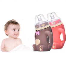 Baby Feeding Bottle Safe Silicone BPA Free Kids Nipple Nursing Cup 240ml