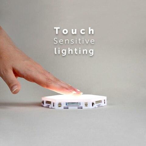 10 pcs set sensivel ao toque luz