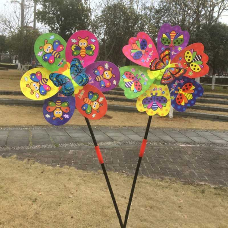 3D бабочка насекомых ветряная мельница ветер Спиннер для дома, сада, двора декоративные детские игрушки