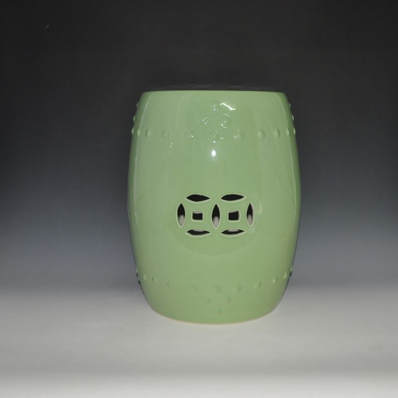 Plain Color Glazed Ceramic Outdoor Garden Stool jingdezhen golden glazed ceramic porcelain garden face stool