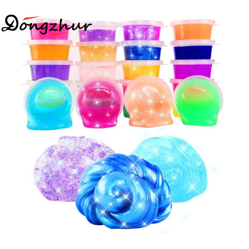 12Pcs Non-toxic Glitter Slime Educational Crystal Jelly Putty Mud Creative Kids Gift Stress Kids Toy For Handmade Toy STS8192 colorful diy creative funny egg crystal mud toy for reducing stress