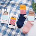 Woman Cute Couple Socks Warm Thickening Women Socks Autumn Winter High Quality Cotton Soft Sock with Gift Boxes 2 Pairs/lot