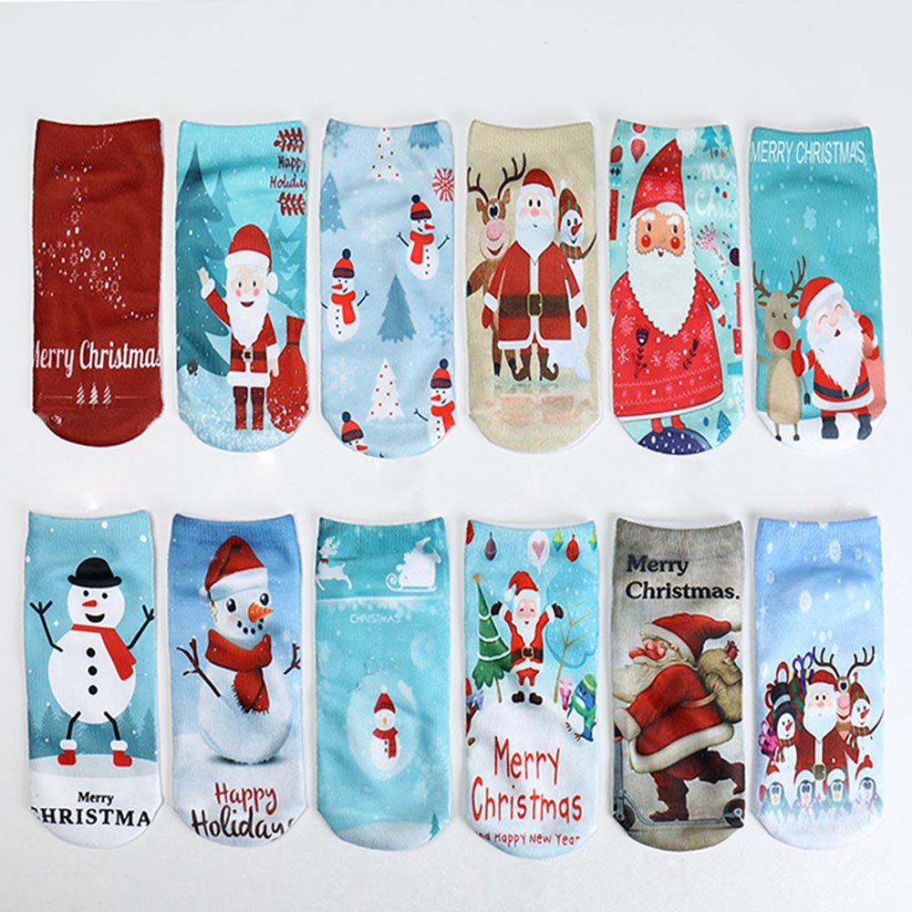 Women's Winter Socks Christmas Gift Warm Soft Cotton Sock ...