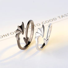 Trendy Ring Sets Gift for Boyfriend and Girlfriend Solid 925 Sterling Silver Jewelry Korea Fashion Design Plain Silver Rings(China)