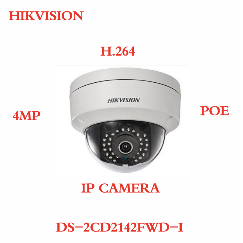 ANXIE Hikvision English Version 4mp IP Camera DS-2CD2142FWD-I POE H.264 CCTV Camera in stock english version ds 2cd2142fwd i support h 264 ip66 ik10 poe 4mp wdr fixed dome network camera