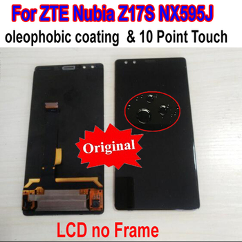Original Best Tested Working LCD Display Touch Screen Digitizer Assembly Sensor + Frame For ZTE Nubia Z17S NX595J Phone Panel
