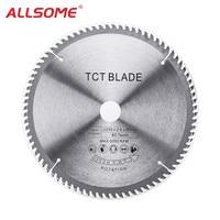 ALLSOME 250x2.8x30x80T TCT Hard Alloy Saw Blade Multi functional Circular Saw Blade Wood Aluminium HT2412
