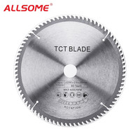 ALLSOME 250x2.8x30x80T TCT Hard Alloy Saw Blade Multi functional Circular Saw Blade Wood Aluminium HT2412