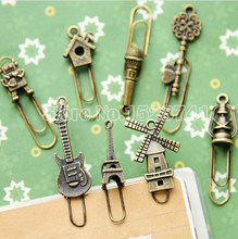 16 Pcs/lot Vintage Antik Pin Logam dan Kreatif Siswa Alat Tulis Multifungsi Korea Klip Kertas Bookmark(China)