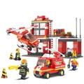 Sluban kits de edificio modelo compatible con lego city aficiones fuego 820 bloques 3D modelo Educativo y juguetes de construcción para los niños