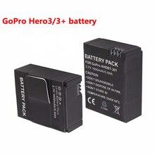 2 unids/lote 1600 mah akku go pro hero 3/3 + batería batería ahdbt-301 ahdbt301 ahdbt-201 para gopro hero3 gopro3 3 + piezas, al por mayor