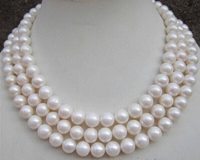 9 10MM AAA NATURAL PERFECT ROUND SOUTH SEA WHITE PEARL NECKLACE 50 GE4558 Factory Wholesale Price