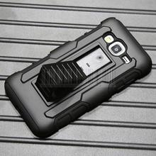 Heavy Duty Armor Impact Hybrid Shockproof Hard Case Cover For Samsung Galaxy Express Prime+Holdster With Belt Clip