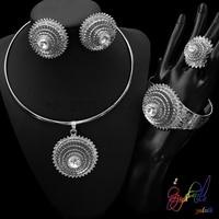 Fake Gold Jewellery Set Glass Pearl Jewellery Set Aritificial Pearl Jewelry Set