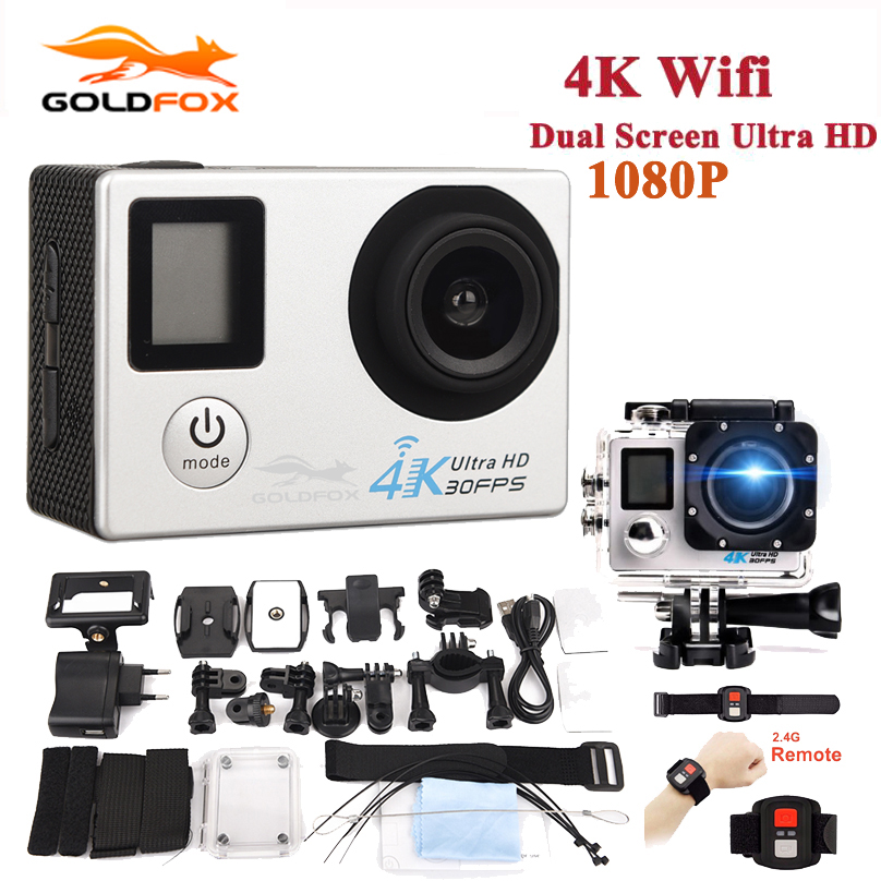 GOLDFOX 1080P Ultra-HD 4K acción Cámara wifi Videocámaras 16MP - Cámara y foto