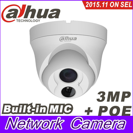 Dahua IPC-HDW4300C Built-in MIC IR HD 1080p IP Camera 3MP Full Network security cctv Dome DH-IPC-HDW4300C a7220 usb built in mic 360° rotating web camera for pc laptop