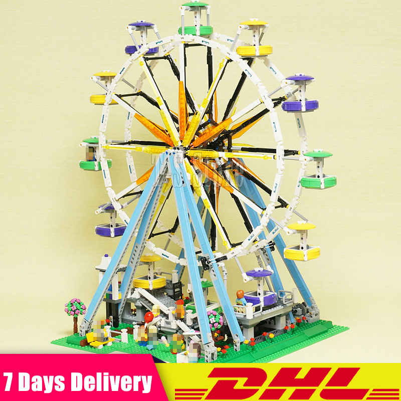 DHL IN Stock Lepin 15012 City Expert Ferris Wheel Model Building Assembling Block Bricks Compatible with 10247 Educational Toy lepin 15012 2478pcs city series expert ferris wheel model building kits blocks bricks lepins toy gift clone 10247