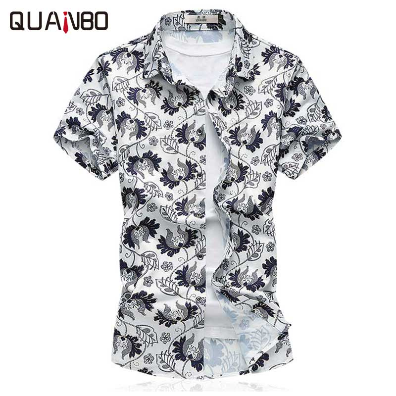 Men's Clothing Cooperative 2018 Summer Fashion Large Stretch Mercerized Cotton Shirt Youth Short Sleeve Large Size Casual Print Top M-7xl With The Most Up-To-Date Equipment And Techniques